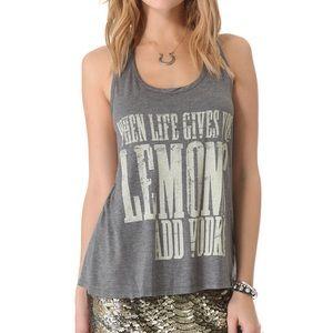 Haute Hippie Life Gives You Lemons Tank Top